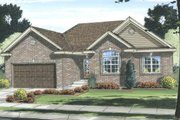 Traditional Style House Plan - 3 Beds 2 Baths 1550 Sq/Ft Plan #455-201 Exterior - Front Elevation