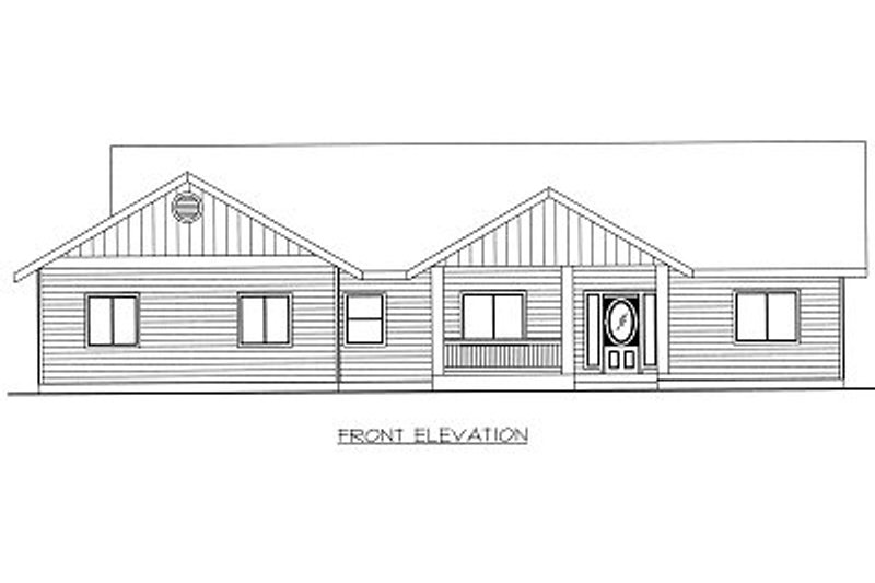 Ranch Exterior - Other Elevation Plan #117-392 - Houseplans.com