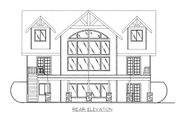 Craftsman Style House Plan - 4 Beds 3 Baths 2427 Sq/Ft Plan #117-702 Exterior - Rear Elevation