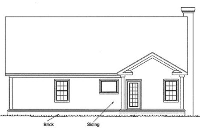Country Exterior - Rear Elevation Plan #20-337 - Houseplans.com