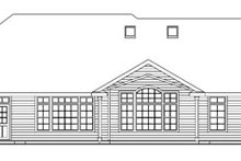House Plan Design - European Exterior - Rear Elevation Plan #124-741