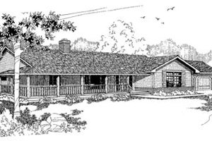 Ranch Exterior - Front Elevation Plan #60-143