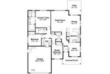 Ranch Floor Plan - Main Floor Plan Plan #124-855
