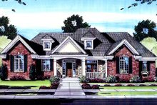 Traditional Exterior - Front Elevation Plan #46-421