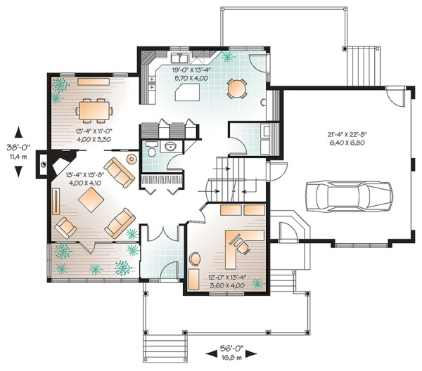 House Plan Design - Farmhouse Floor Plan - Main Floor Plan #23-2651