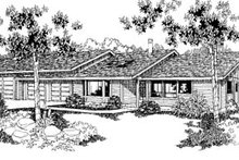 Dream House Plan - Ranch Exterior - Front Elevation Plan #60-132