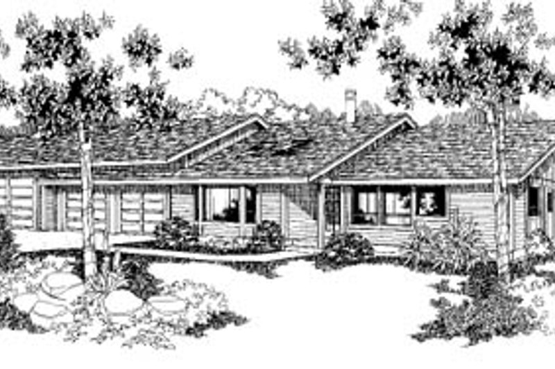 Architectural House Design - Ranch Exterior - Front Elevation Plan #60-132