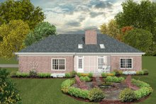 Southern Exterior - Rear Elevation Plan #56-630