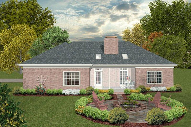 Southern Exterior - Rear Elevation Plan #56-630 - Houseplans.com