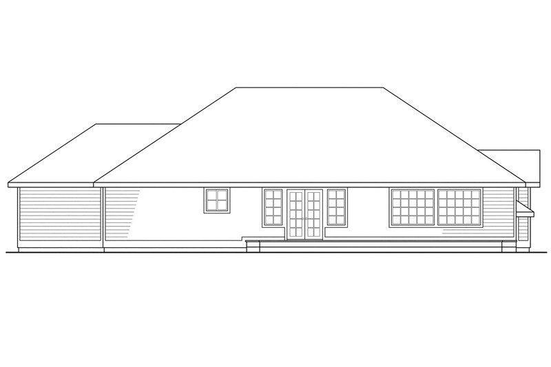 Modern Exterior - Rear Elevation Plan #124-278 - Houseplans.com
