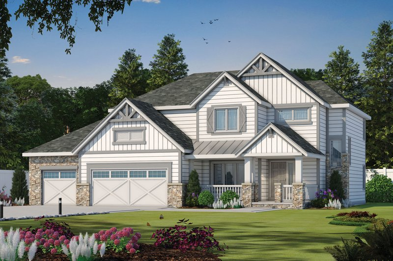Home Plan - Craftsman Exterior - Front Elevation Plan #20-2127