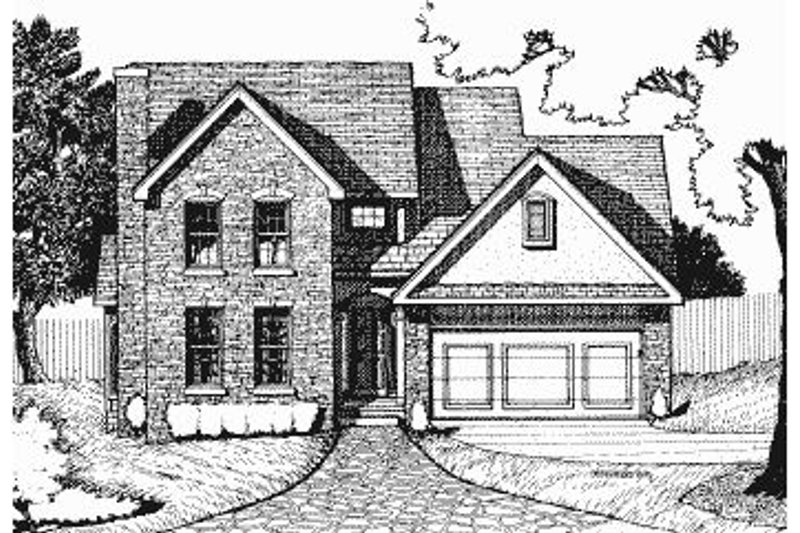 Colonial Exterior - Front Elevation Plan #20-577