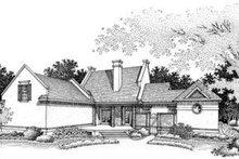 Home Plan Design - Southern Exterior - Rear Elevation Plan #45-207