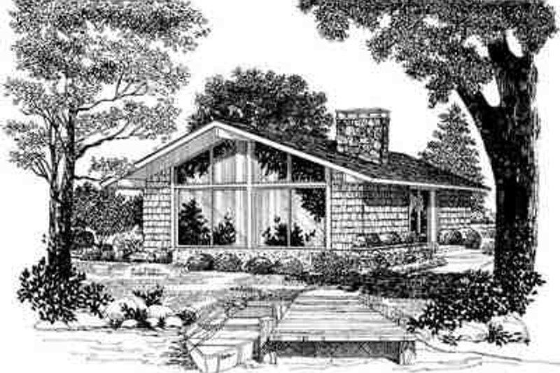 Contemporary Exterior - Front Elevation Plan #72-229 - Houseplans.com