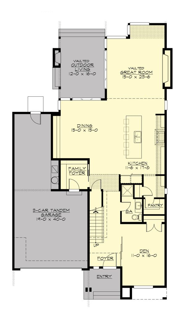 Contemporary Floor Plan - Main Floor Plan Plan #132-227