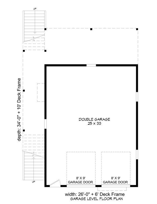 Contemporary Floor Plan - Lower Floor Plan #932-350