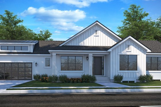 Country Exterior - Front Elevation Plan #1073-19