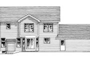 Country Style House Plan - 4 Beds 2.5 Baths 2013 Sq/Ft Plan #316-102 Exterior - Rear Elevation