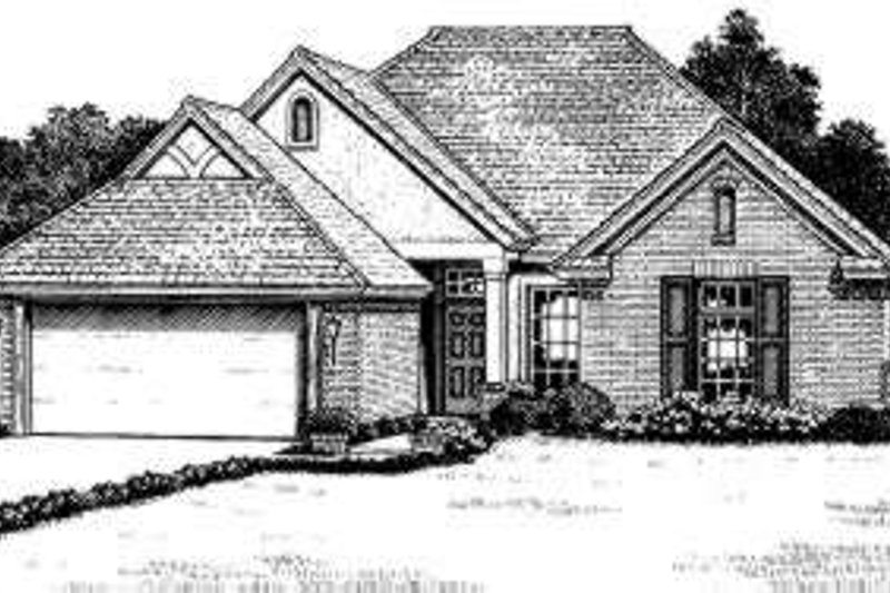 Traditional Style House Plan - 4 Beds 2 Baths 1552 Sq/Ft Plan #310-154 Exterior - Front Elevation