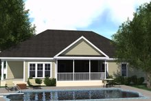 Dream House Plan - Ranch Exterior - Rear Elevation Plan #1071-3
