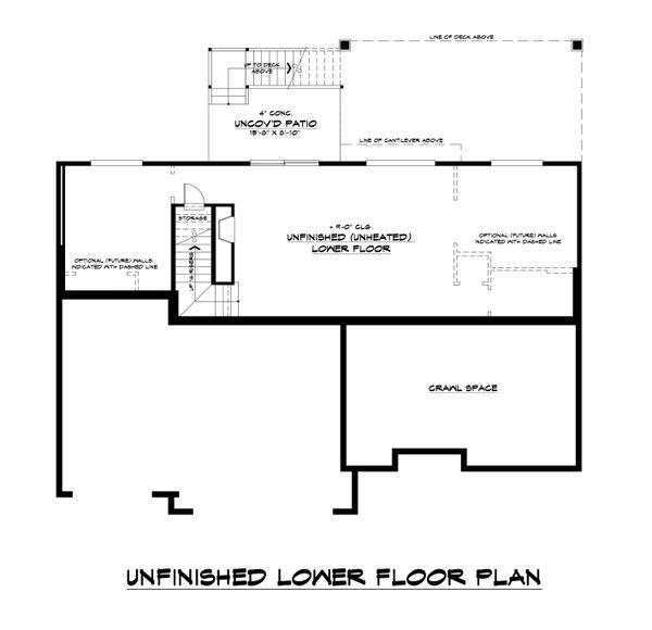 Home Plan - Modern Floor Plan - Lower Floor Plan #1066-129