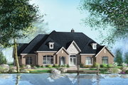 European Style House Plan - 4 Beds 2 Baths 2625 Sq/Ft Plan #25-4446 Exterior - Front Elevation