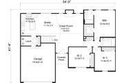 Ranch Style House Plan - 3 Beds 2 Baths 1418 Sq/Ft Plan #22-523 Floor Plan - Main Floor Plan