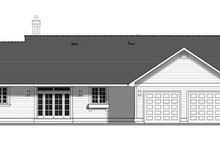 House Blueprint - Ranch Exterior - Rear Elevation Plan #427-9