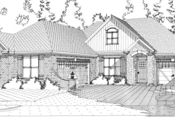 European Exterior - Front Elevation Plan #63-252