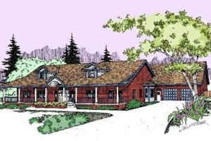 Country Exterior - Front Elevation Plan #60-295