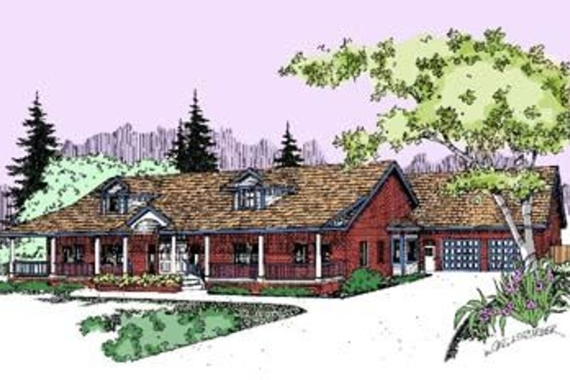 Country Exterior - Front Elevation Plan #60-295 - Houseplans.com