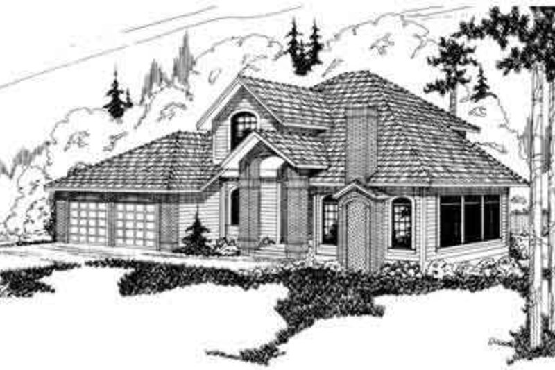 Traditional Exterior - Front Elevation Plan #124-257 - Houseplans.com