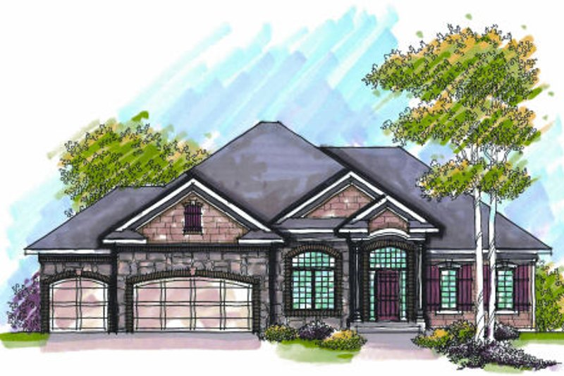 Bungalow Exterior - Front Elevation Plan #70-948
