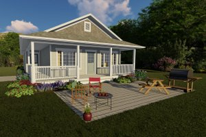 Colonial Exterior - Front Elevation Plan #126-231