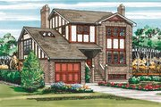 European Style House Plan - 3 Beds 3 Baths 1473 Sq/Ft Plan #47-449 Exterior - Front Elevation