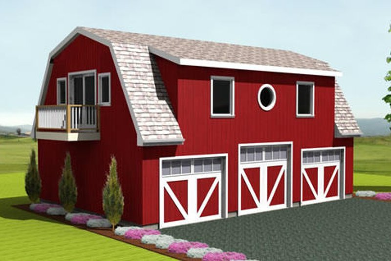 Farmhouse Style House Plan - 0 Beds 0 Baths 1552 Sq/Ft Plan #75-200 Exterior - Front Elevation