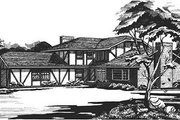 European Style House Plan - 3 Beds 2 Baths 2451 Sq/Ft Plan #320-144 Exterior - Other Elevation
