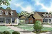 Farmhouse Style House Plan - 3 Beds 2 Baths 3674 Sq/Ft Plan #17-2208 Exterior - Front Elevation