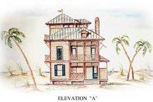 Beach Exterior - Front Elevation Plan #54-115