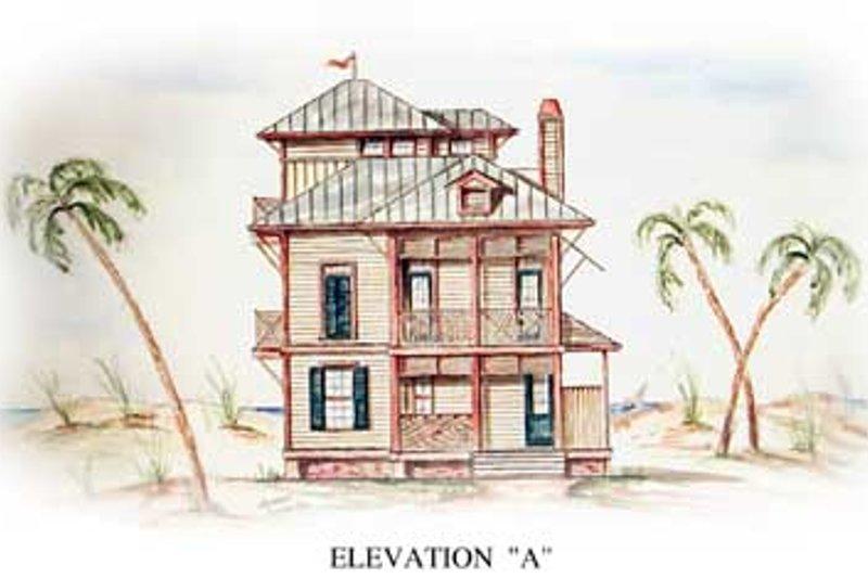 Dream House Plan - Beach Exterior - Front Elevation Plan #54-115