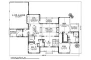 Traditional Style House Plan - 2 Beds 2 Baths 2551 Sq/Ft Plan #70-854 Floor Plan - Main Floor Plan