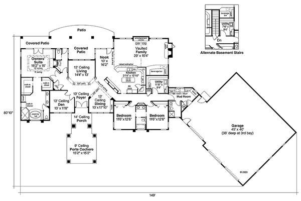 Prairie Floor Plan - Main Floor Plan #124-665