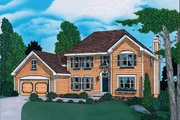 Traditional Style House Plan - 4 Beds 2.5 Baths 2411 Sq/Ft Plan #20-867 Exterior - Front Elevation