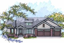 Dream House Plan - Craftsman Exterior - Front Elevation Plan #70-1012