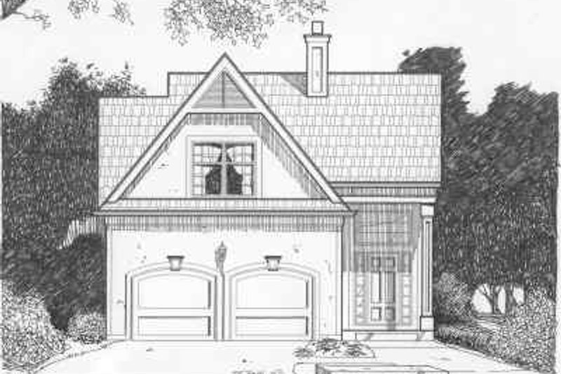 Traditional Style House Plan - 3 Beds 2.5 Baths 1582 Sq/Ft Plan #6-137