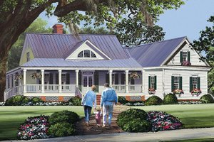 Country Exterior - Front Elevation Plan #137-371
