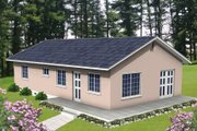 Ranch Style House Plan - 2 Beds 1.5 Baths 1115 Sq/Ft Plan #1-172 Exterior - Front Elevation