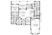 Mediterranean Floor Plan - Main Floor Plan Plan #938-90