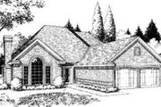 Traditional Style House Plan - 4 Beds 2.5 Baths 1911 Sq/Ft Plan #310-140 Exterior - Front Elevation