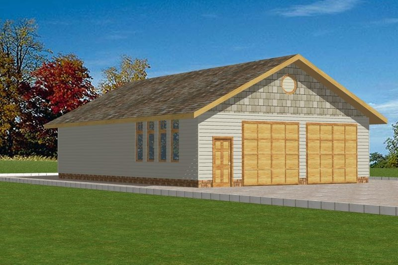 Home Plan - Traditional Exterior - Front Elevation Plan #117-285